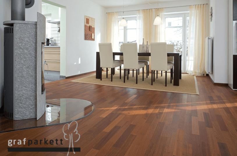 Doussie-Holzboden
