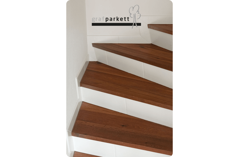 parkett treppe. Black Bedroom Furniture Sets. Home Design Ideas